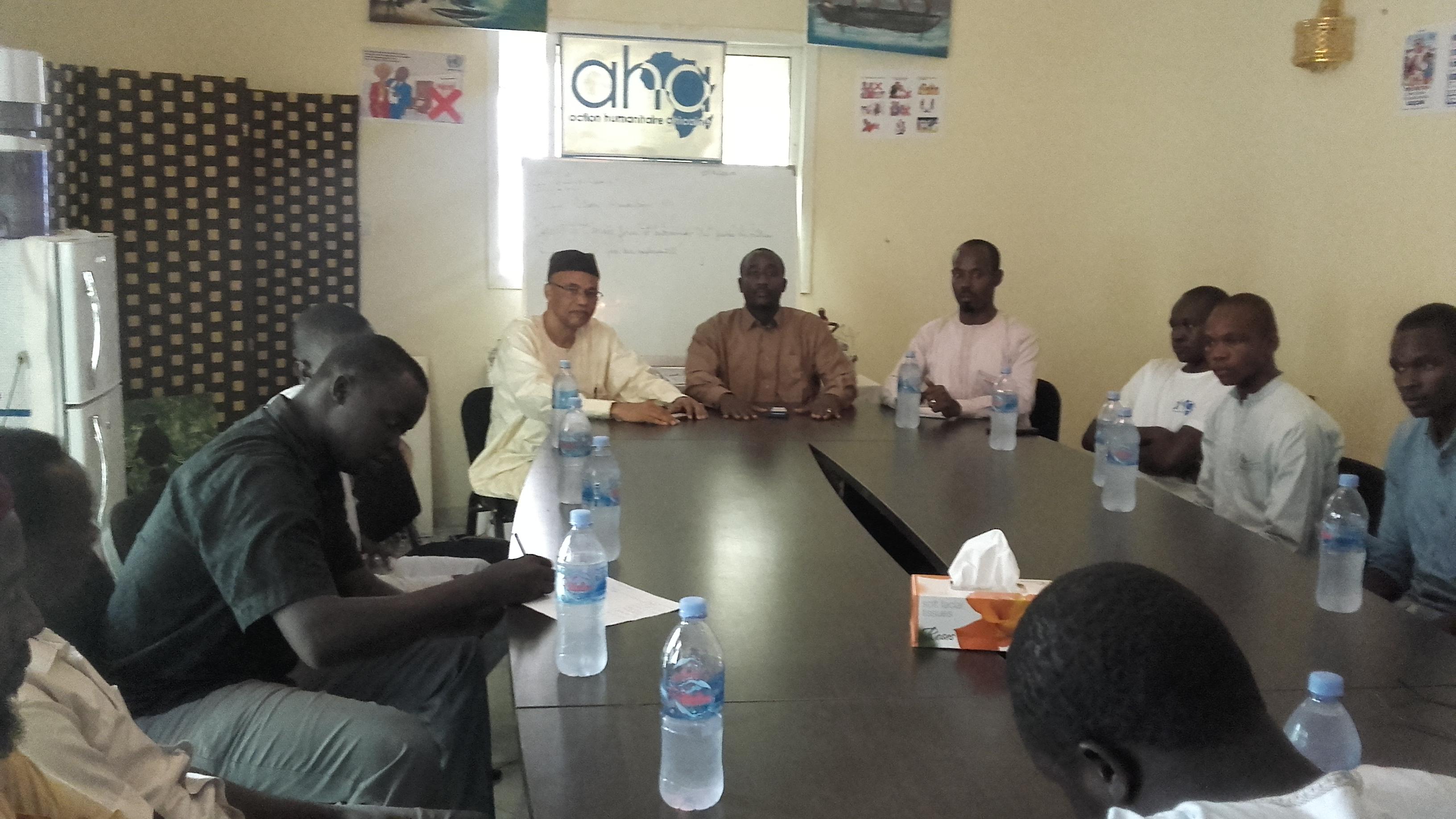 Tchad: Le Président du CEDPE en visite au siège de l'ONG AHA